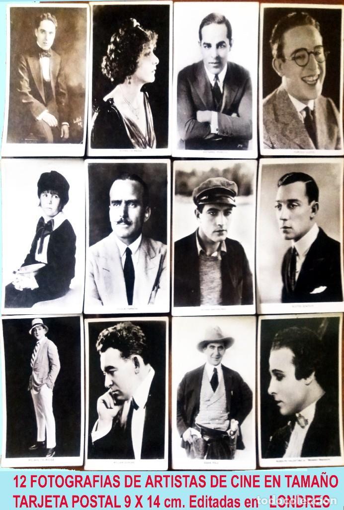 LOTE DE 12 FOTOGRAFIAS POSTALES DE ARTISTAS DEL CINE AÑOS 40.NUEVAS,14 X 9 EDIT. EN LONDRES (Cine - Fotos y Postales de Actores y Actrices)