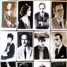 Cine: LOTE DE 12 FOTOGRAFIAS POSTALES DE ARTISTAS DEL CINE AÑOS 40.NUEVAS,14 X 9 EDIT. EN LONDRES. Lote 165407978