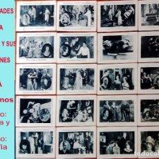 Cine: COLECCION DE 20 CROMOS FOTOS DE CELEBRIDADES DE LA PANTALLA Y SUS CREACIONES SERIE A.AÑOS 30. 11 X 7. Lote 165887302