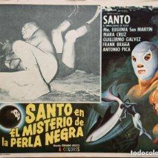 Cine: FOTOCROMO MEXICO: SANTO EN MISTERIO DE LA PERLA NEGRA - EL ENMASCARADO DE PLATA - VINTAGE !!. Lote 166309262