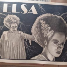 Cine: OFERTA!! - ELSA - DIBUJO ORIGINAL A GRAFITO, FIRMADO. 42X30 CM. (A3).. Lote 166520914