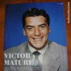 Cine: LOTE DE HOJAS DEL ACTOR VICTOR MATURE REVISTA INTERFILMS. Lote 167133748