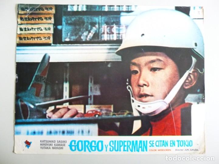 Cine: JUEGO DE 9 FOTOCROMOS DE LA PELÍCULA. GORGO Y SUPERMAN SE CITAN EN TOKYO ORIGINALES DE ÉPOCA - Foto 2 - 167942968