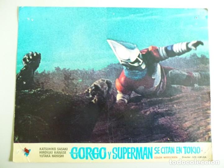 Cine: JUEGO DE 9 FOTOCROMOS DE LA PELÍCULA. GORGO Y SUPERMAN SE CITAN EN TOKYO ORIGINALES DE ÉPOCA - Foto 4 - 167942968
