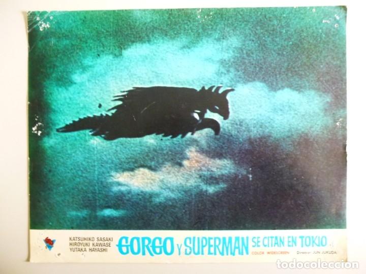 Cine: JUEGO DE 9 FOTOCROMOS DE LA PELÍCULA. GORGO Y SUPERMAN SE CITAN EN TOKYO ORIGINALES DE ÉPOCA - Foto 3 - 167942968