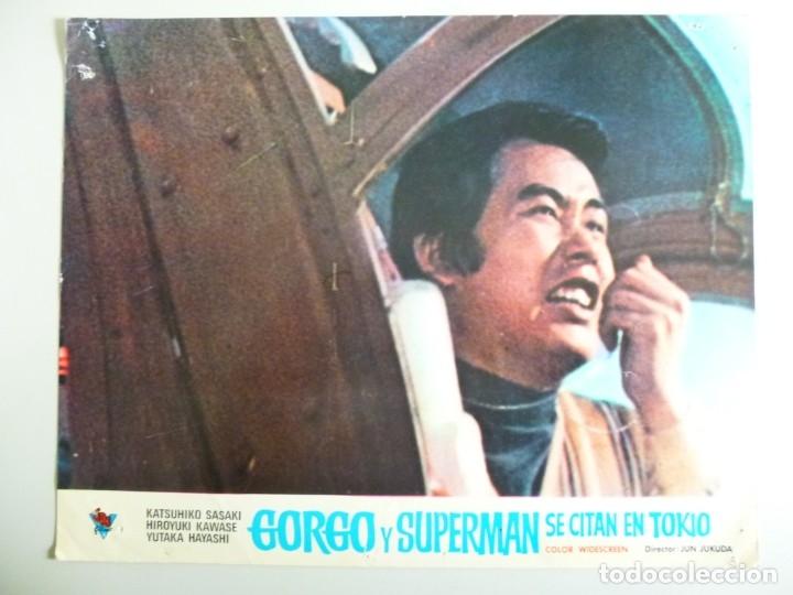 Cine: JUEGO DE 9 FOTOCROMOS DE LA PELÍCULA. GORGO Y SUPERMAN SE CITAN EN TOKYO ORIGINALES DE ÉPOCA - Foto 7 - 167942968