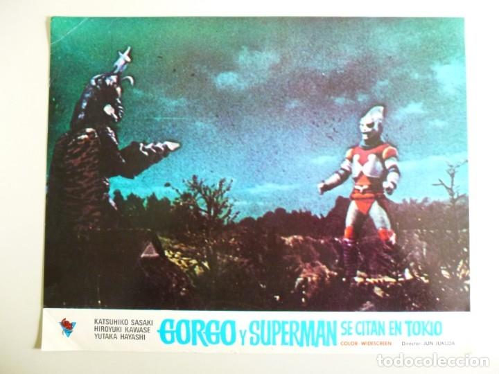 Cine: JUEGO DE 9 FOTOCROMOS DE LA PELÍCULA. GORGO Y SUPERMAN SE CITAN EN TOKYO ORIGINALES DE ÉPOCA - Foto 9 - 167942968