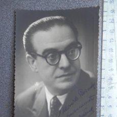 Cine: DEDICATORIA MANUSCRITA FOTOGRAFÍA ACTOR LUIS ORDUÑA AÑO 1950 NACIDO EN AZKOITIA . Lote 168079276