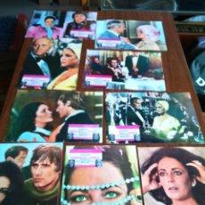 Cine: MIERCOLES DE CENIZA -- 9 FOTOCROMOS ORIGINALES DE CINE -- ELIZABETH TAYLOR - 1974 -- . Lote 168862696