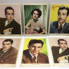 Cine: 6 POSTALES ACTORES Y ACTRICES - PUBLICIDAD DENTICLOR - BARCELONA - SIN CIRCULAR. Lote 168872868