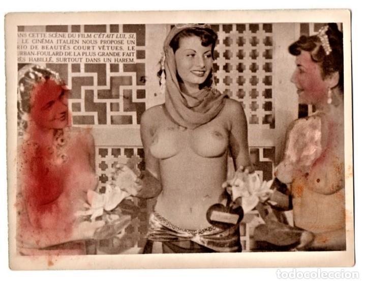CINE,FOTOGRAFIA ORIGINAL PROMOCIONAL,AÑO 1953 PELICULA CON SOFIA LOREN SEMI DESNUDA,VERSION FRANCESA (Cine - Fotos y Postales de Actores y Actrices)