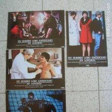 Cine: LOTE DE FOTOCROMS UN HOMBRE LOBO AMERICANO EN LONDRES. Lote 170048420