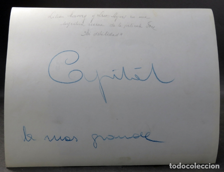 Cine: Foto original prensa película Mi debilidad Lilian Harvey Lew Ayres 26 cm x 20 cm - Foto 2 - 171428625