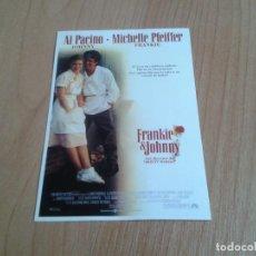 Cine: MICHELLE PFEIFFER -- FRANKIE & JONNY -- AL PACINO -- POSTAL CARTEL PELÍCULA - CINE. Lote 171497688