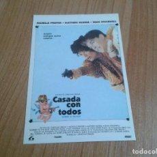 Cine: MICHELLE PFEIFFER -- CASADA CON TODOS -- MATTHEW MODINE -- POSTAL CARTEL PELÍCULA - CINE. Lote 171498537