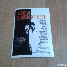 Cine: MICHELLE PFEIFFER - EL PRECIO DEL PODER - AL PACINO - BRIAN DE PALMA - POSTAL CARTEL PELÍCULA - CINE. Lote 171499692