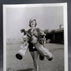 Cine: FOTO ORIGINAL PRENSA ANN ANNE DARLING EN CAMPO GOLF METRO GOLDWYN MAYER AÑOS 30 26 CM X 20 CM. Lote 171512685
