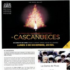 Cine: EL CASCANUECES. SOBRE 15 X 21 CMS... Lote 171818385