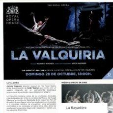 Cine: LA VALQUIRIA. SOBRE 15 X 21 CMS... Lote 171832495