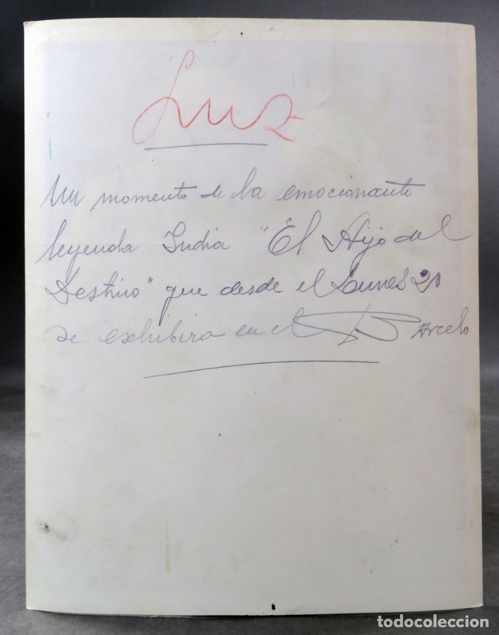 Cine: Foto original prensa película El Hijo del Destino Ramón Novarro 1931 26 cm x 20 cm - Foto 2 - 172078729