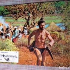 Cine: FOTOCROMOS DE PELÍCULA. LA PRESA DESNUDA, CORNEL WILDE, COMPLETO 11 UNIDADES.. Lote 172257414
