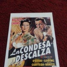 Cine: POSTAL DE LA PELÍCULA LA CONDESA DESCALZA. Lote 172824000