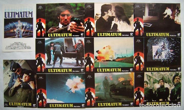 ULTIMATUM, CON KLAUS KINSKI. JUEGO COMPLETO DE 12 FOTOCROMOS. (Cine - Fotos, Fotocromos y Postales de Películas)