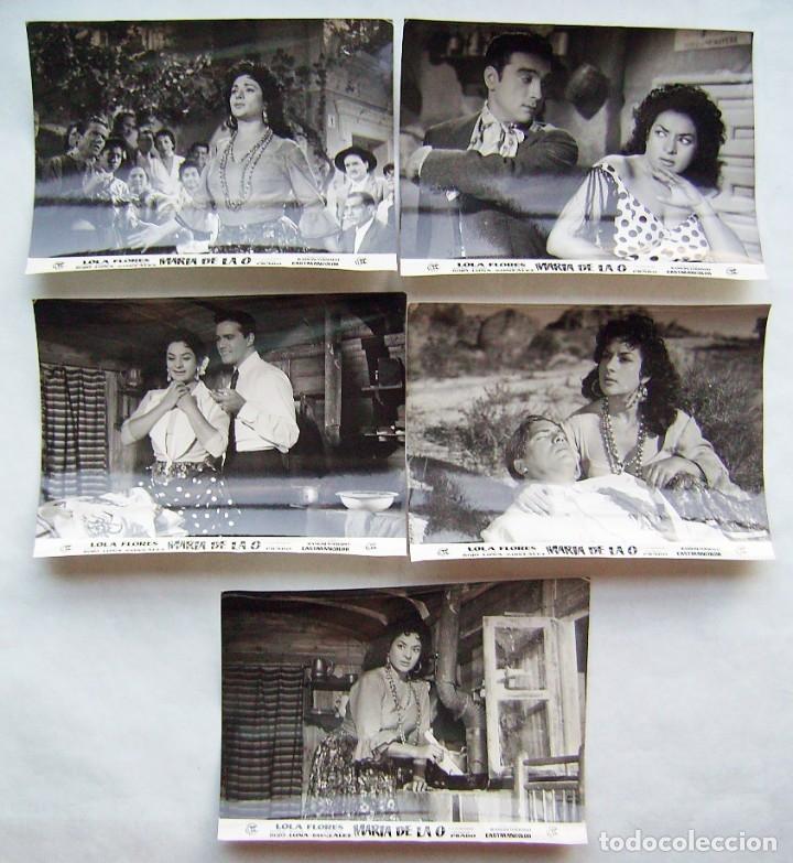 MARÍA DE LA O, CON LOLA FLORES. 5 FOTOS FOTOCROMOS ORIGINALES, 18 X 24 CMS.. (Cine - Fotos, Fotocromos y Postales de Películas)
