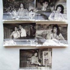 Cine: MARÍA DE LA O, CON LOLA FLORES. 5 FOTOS FOTOCROMOS ORIGINALES, 18 X 24 CMS... Lote 173866882