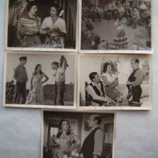 Cine: LA NIÑA DE LA VENTA, CON LOLA FLORES. 5 FOTOS FOTOCROMOS ORIGINALES, 18 X 24 CMS... Lote 173867257