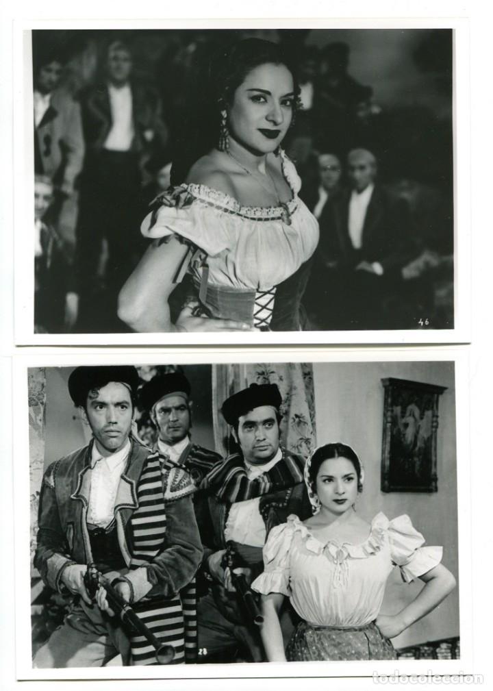 LOLA FLORES. LA ESTRELLA DE SIERRA MORENA. 2 REPRODUCCIONES EN FOTO 12,5 X 17,5 CMS.. (Cine - Fotos, Fotocromos y Postales de Películas)