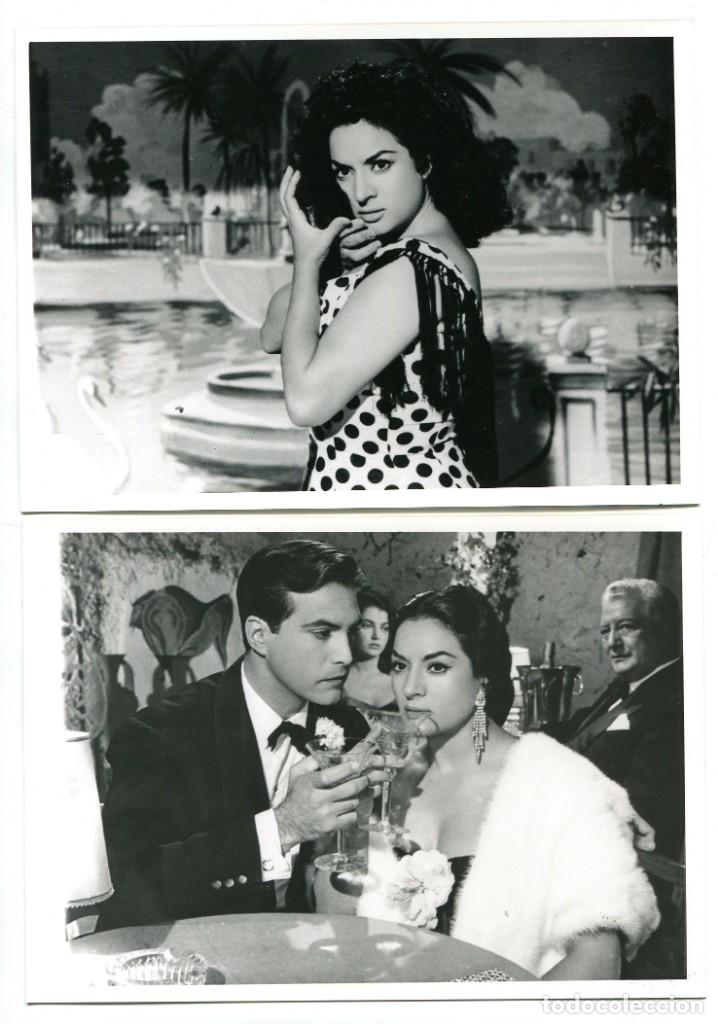 LOLA FLORES.MARÍA DE LA O. 2 REPRODUCCIONES EN FOTO 12,5 X 17,5 CMS.. (Cine - Fotos, Fotocromos y Postales de Películas)