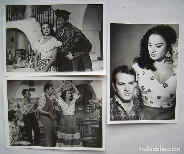 LOLA FLORES.LA NIÑA DE LA VENTA. 3 REPRODUCCIONES EN FOTO 12,5 X 17,5 CMS.. (Cine - Fotos, Fotocromos y Postales de Películas)