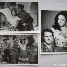 Cine: LOLA FLORES.LA NIÑA DE LA VENTA. 3 REPRODUCCIONES EN FOTO 12,5 X 17,5 CMS... Lote 173937490