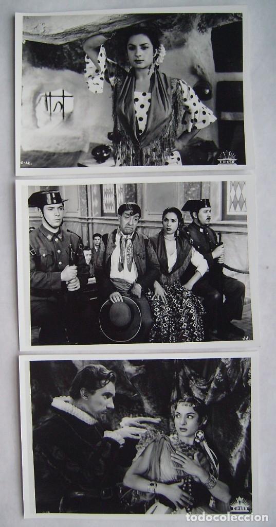LOLA FLORES. MORENA CLARA. 3 REPRODUCCIONES EN FOTO 12,5 X 17,5 CMS.. (Cine - Fotos, Fotocromos y Postales de Películas)