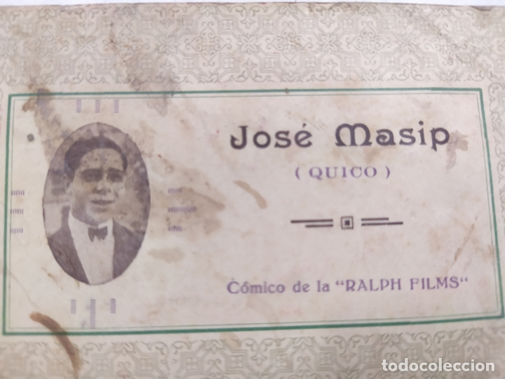 Cine: JOSE MASIP (QUICO)-COMICO DE RALPH FILMS-TARJETA PUBLICITARIA ANTIGUA-VER REVERSO-(61.523) - Foto 2 - 174102460