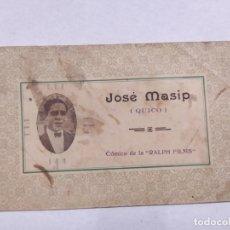 Cine: JOSE MASIP (QUICO)-COMICO DE RALPH FILMS-TARJETA PUBLICITARIA ANTIGUA-VER REVERSO-(61.523). Lote 174102460