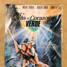 Cine: TRAS EL CORAZÓN VERDE (1984). LOTE 12 FOTOCROMOS (SET COMPLETO). MICHAEL DOUGLAS, KATHLEEN TURNER,... Lote 175338550