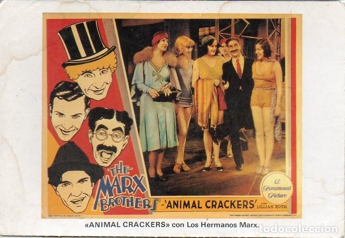 THE MARX BROTHERS GROUCHO HARPO POSTCARD ANIMAL CRACKERS A PARAMOUNT PICTURES (Cine - Fotos y Postales de Actores y Actrices)