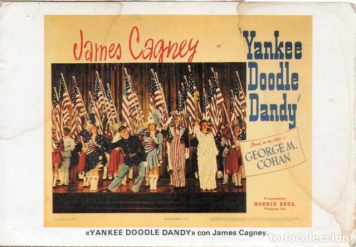JAMES CAGNEY POSTCARD YANKEE DOODLE DANDY GEORGE M. COHAN WARNER BROS. PRODUCTION (Cine - Fotos y Postales de Actores y Actrices)