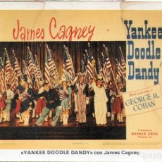 Cine: JAMES CAGNEY POSTCARD YANKEE DOODLE DANDY GEORGE M. COHAN WARNER BROS. PRODUCTION. Lote 176033238