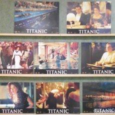 Cine: QT66 TITANIC LEONARDO DICAPRIO KATE WINSLET JAMES CAMERON SET 8 FOTOCROMOS ESPAÑOL. Lote 213640521