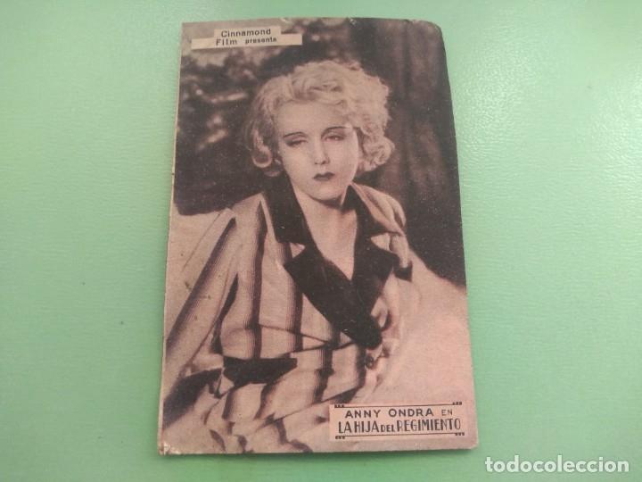 TARJETA AUTENTICA LA HIJA DEL REGIMIENTO DE CINNAMOND FILM AÑO 1934. GAVÁ CINE COLECTIVIZADO CNT (Cine - Fotos, Fotocromos y Postales de Películas)