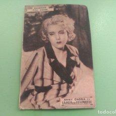 Cine: TARJETA AUTENTICA LA HIJA DEL REGIMIENTO DE CINNAMOND FILM AÑO 1934. GAVÁ CINE COLECTIVIZADO CNT. Lote 176579182