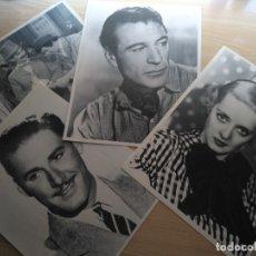 Cine: 4 FOTO FICHA LOS 25 GRANDES MITOS CINEMATOGRAFICOS DE HOLLYWOOD, NºS 7-5-10-19 PANTALLA 3. Lote 177202187