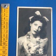 Cine: ANTIGUA FOTO CON FIRMA ARTISTA KANIN RIVAS 1948 ESTUDIO FOTOGRAFICO SIERRA . Lote 177217007