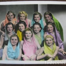 Cine: JOVENES ASPIRANTES A ESTRELLAS HOLLYWOOD - FOTO ORIGINAL B/N - COLOREADA. Lote 177592098