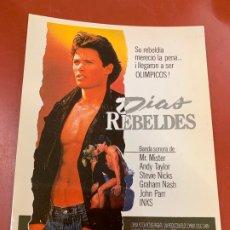 Cine: DIA REBELDES - POSTAL PROMOCIONAL DE LA PELICULA. MIDE APROX 14,5X11CMS, LAUREN FILMS. IMPECABLE. Lote 177658634