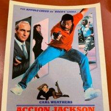 Cine: ACCION JACKSON - POSTAL PROMOCIONAL DE LA PELICULA. MIDE APROX 14,5X11CMS, LAUREN FILMS. IMPECABLE. Lote 177659149