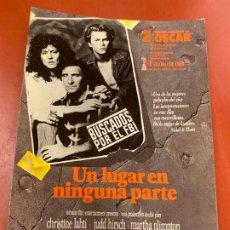 Cine: UN LUGAR EN NINGUNA PARTE - POSTAL DE LA PELICULA. MIDE APROX 14,5X11CMS, LAUREN FILMS. IMPECABLE. Lote 177659277